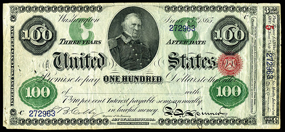 1865 One Hundred Dollar Interest Bearing Notes 3yr