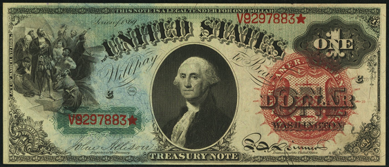 1869 One Dollar Legal Tender Or United States Note