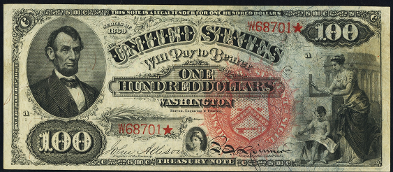 1869 One Hundred Dollar Legal Tender Or United States Note