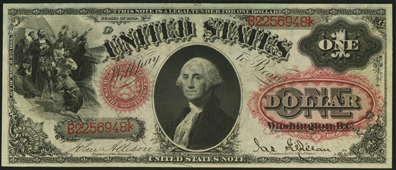 1878 One Dollar Legal Tender Or United States Note