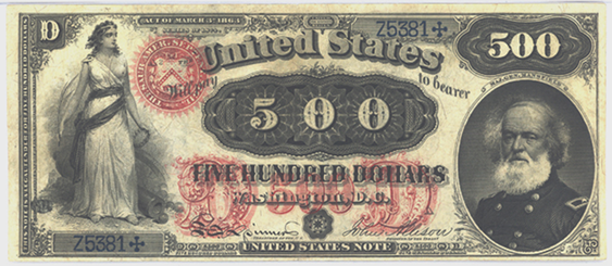 1880 Five Hundred Dollar Legal Tender Or United States Note