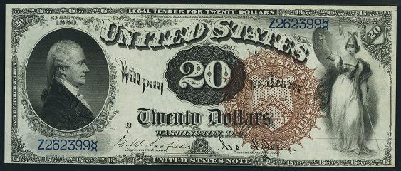 1880 Twenty Dollar Legal Tender Or United States Note