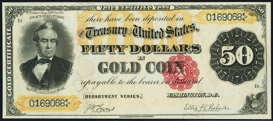1882 Fifty Dollar Gold Certificate