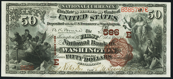 1882 \$50 Brown Back - Front