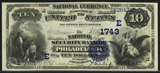 1882 \$10 Date Back - Front