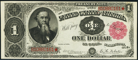 1891 One Dollar Treasury Note Or Coin Note