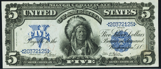 1899 Five Dollar Silver Certificate