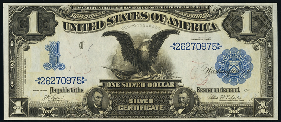 1899 $1 Silver Certificate Value - How much is 1899 $1 Bill Worth ...