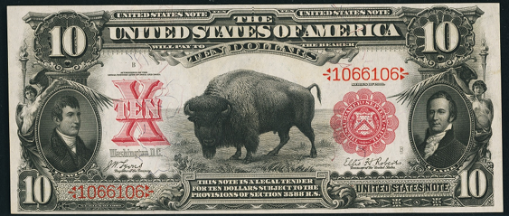 1901 Ten Dollar Legal Tender Or United States Note