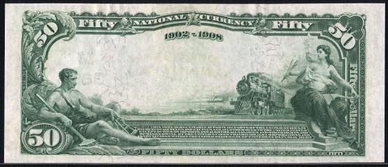 1902 \$50 Date Back - Back