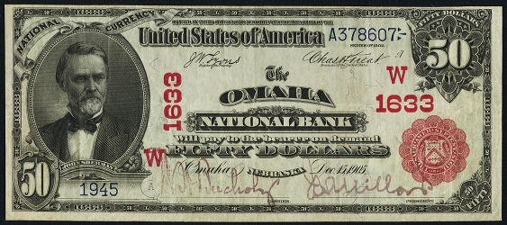 1902 \$50 Red Seal - Front