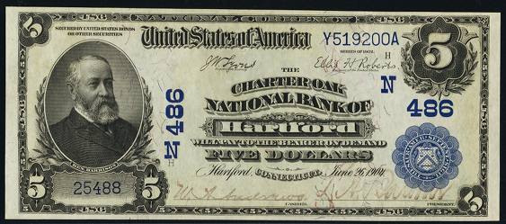 1902 \$5 Date Back - Front