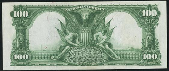 1902 \$100 Date Back - Back