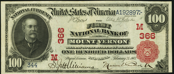 1902 \$100 Red Seal - Front