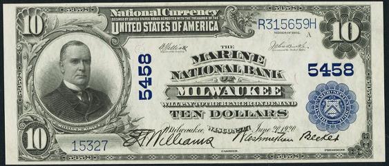 1902 $10 Plain Back - Front