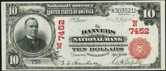 1902 \$10 Red Seal - Front