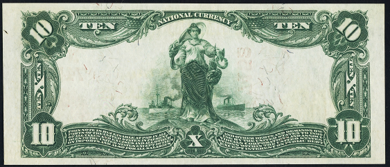 1902 \$10 Red Seal - Back