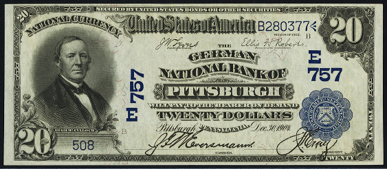 1902 $20 Date Back - Front