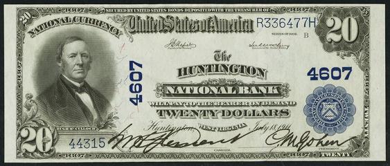 1902 \$20 Plain Back - Front