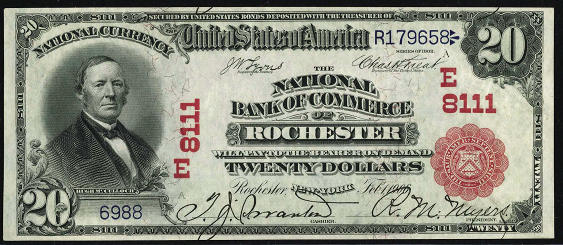 1902 $20 Red Seal - Front