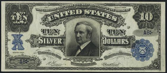 1908 Ten Dollar Silver Certificate