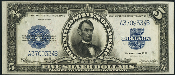 1923 $5 Silver Certificate Value - How much is 1923 $5 Bill Worth ...