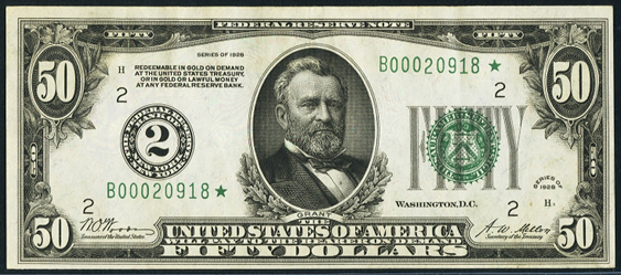 1928 Fifty Dollar Federal Reserve Note