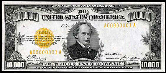 1928 $10000 Gold Certificate Value - How much is 1928 $10000 Bill ...
