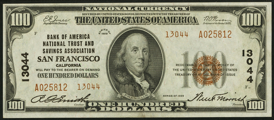 1929 \$100 Type 2 - Front