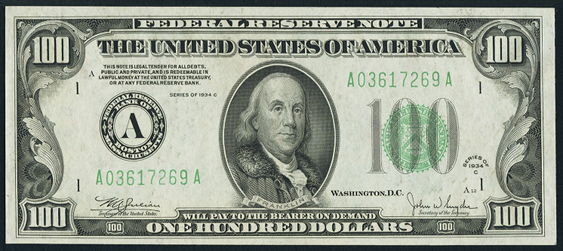 1934c 100 federal reserve note value how much is 1934c 100 1934c one hundred dollar federal reserve note voltagebd Choice Image