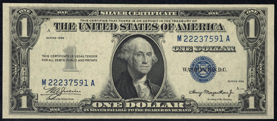 1935 One Dollar Silver Certificate
