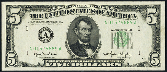 1950 5 Federal Reserve Note Value How Much Is 1950 5