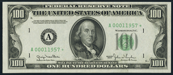 1950 One Hundred Dollar Federal Reserve Note