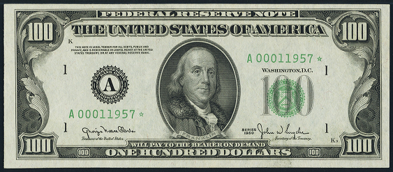 1950a One Hundred Dollar Federal Reserve Note