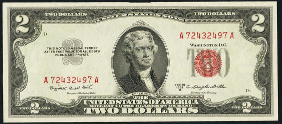 1953b 2 Legal Tender Value How Much Is 1953b 2 Bill Worth