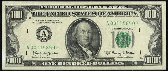 1974 One Hundred Dollar Federal Reserve Note