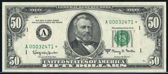 1977 Fifty Dollar Federal Reserve Note