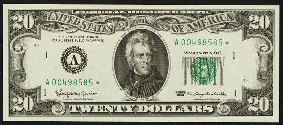 1977 Twenty Dollar Federal Reserve Note
