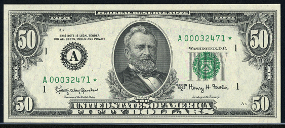 1981 Fifty Dollar Federal Reserve Note