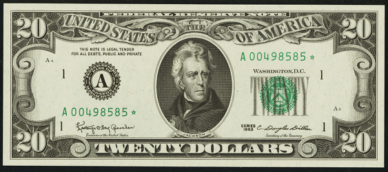 1981 Twenty Dollar Federal Reserve Note