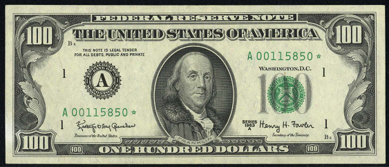 1981a One Hundred Dollar Federal Reserve Note