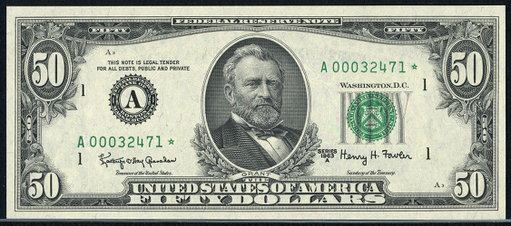 1985 Fifty Dollar Federal Reserve Note