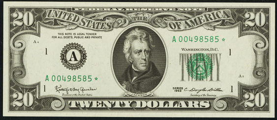 1985 Twenty Dollar Federal Reserve Note
