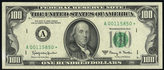 1988 One Hundred Dollar Federal Reserve Note