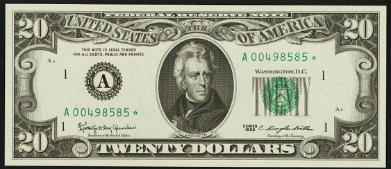 1995 Twenty Dollar Federal Reserve Note