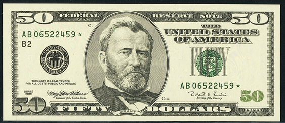 Image result for fifty dollar bill images
