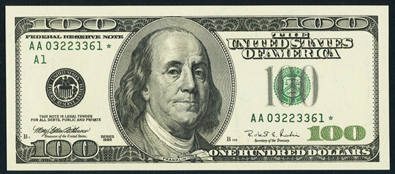 What does the new hundred dollar bill look like 11