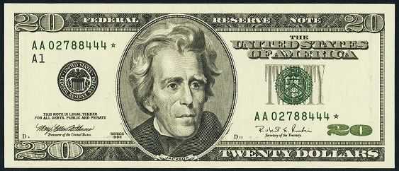 2001 Twenty Dollar Federal Reserve Note