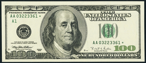 2003a One Hundred Dollar Federal Reserve Note