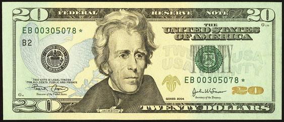 2004 Twenty Dollar Federal Reserve Note